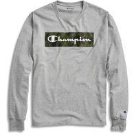 Champion Men's Classic Camo Graphic Script Logo Long-Sleeve T-Shirt