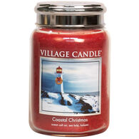 Village Candle Large Glass Jar Candle - Coastal Christmas