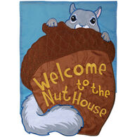 Carson Home Accents Welcome To The Nuthouse Double Appliqué Garden Flag