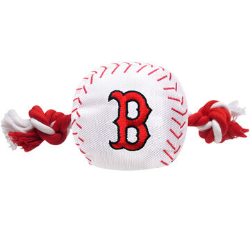 Pets First Boston Red Sox Nylon Baseball Dog Toy