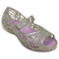 Crocs Girls' Isabella Glitter Flat