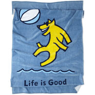 Life is Good Beach Ball & Rocket Beach Towel