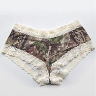 Wilderness Dreams Women's Mossy Oak/Cream Lace-Trimmed Boy Short