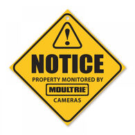 Moultrie Camera Surveillance Sign - 3 Pack
