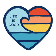 Life is Good Wave Heart Small Die Cut Decal