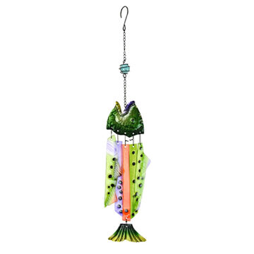Red Carpet Studios Fish Hanging Wood Wind Chime