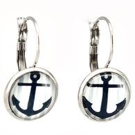 Eye Catching Jewelry Women's Anchor Button Earring