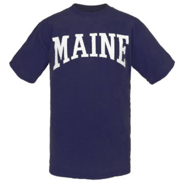 Cape Cod Textile Mens Maine Arch Design Short-Sleeve T-Shirt