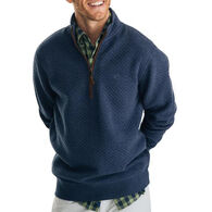 Southern Tide Men's Sundown Quilted Quarter-Zip Long-Sleeve Pullover
