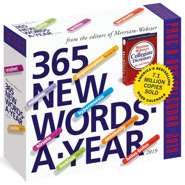 365 New Words-A-Year 2019 Page-A-Day Calendar by Merriam-Webster