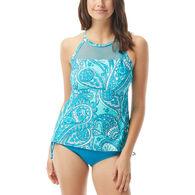 Beach House - Swimwear Anywear Women's Rise and Shine Exhilarate Racerback High Neck Tankini Swimsuit Top