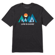 Life is Good Men's Sunset Fly Fishing Cool Tee Short-Sleeve T-Shirt