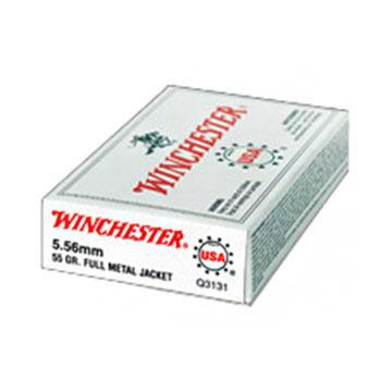 Winchester USA 5.56mm 55 Grain FMJ BT Rifle Ammo (20)