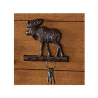 Park Designs Cast Burl Moose Key Hook Holder