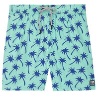 Tom & Teddy Men's Aqua Green & Blue Palms Boardshort