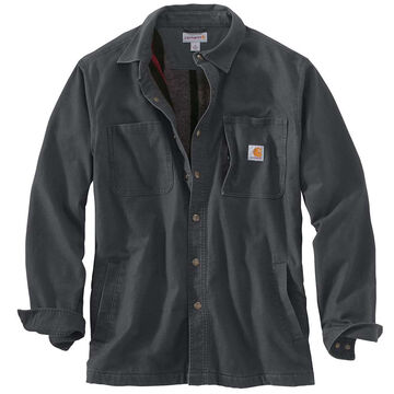 Carhartt Mens Rugged Flex Rigby Fleece-Lined Shirt Jac