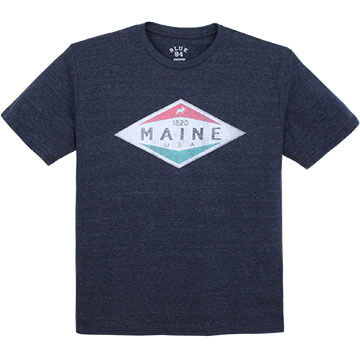 Lakeshirts Mens Blue 84 Walk Moose Short-Sleeve T-Shirt