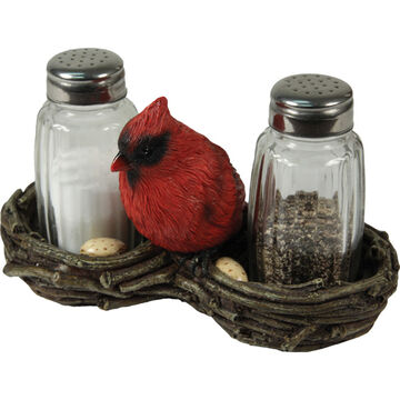 Rivers Edge Cardinal Salt & Pepper Shaker Set, 2-Piece