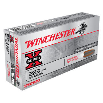 Winchester Super-X 223 Rem 55 Grain Pointed Soft Point Rifle Ammo (20)