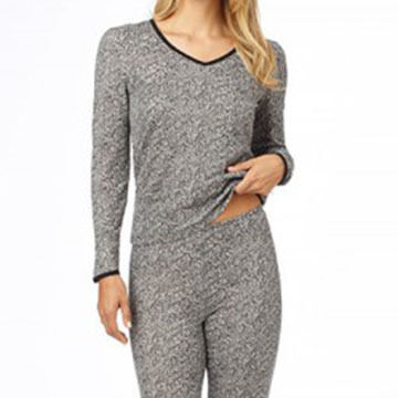 Cuddl Duds Womens Softwear Lace Edge with Smart Layer Legging