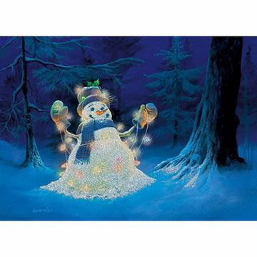 LPG Greetings Lit Snowman Boxed Christmas Cards