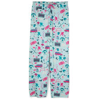 Hatley Little Blue House Women's Hockey Mom Jersey Pajama Pant