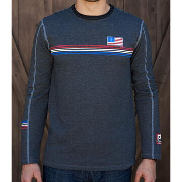 Alp N Rock Mens Team USA Crew Neck Long-Sleeve Shirt