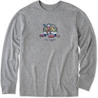 Life is Good Men's Tailgate Football Vintage Crusher Long-Sleeve T-Shirt