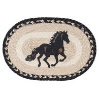Capitol Earth Braided Oval Stallion Printed Swatch Rug