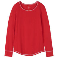 Hatley Little Blue House Women's Holiday Red Stretch Jersey Pajama Top