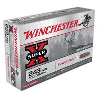 Winchester Super-X 243 Winchester 100 Grain Power-Point Rifle Ammo (20)