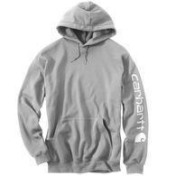 Carhartt Men's Midweight Hooded Logo-Sleeve Sweatshirt