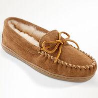Minnetonka Women's Sheepskin Hardsole Moccasin Slipper
