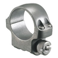 "Ruger Low 1"" Target Grey Stainless Scope Ring"
