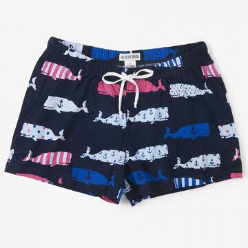 Hatley Womens Little Blue House Whales Sleep Shorts