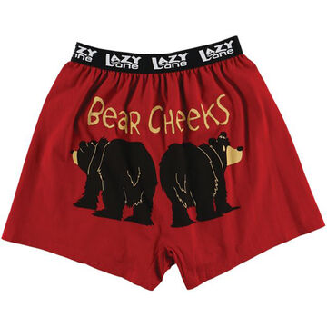 Lazy One Mens Bear Cheeks Comical Boxer Short