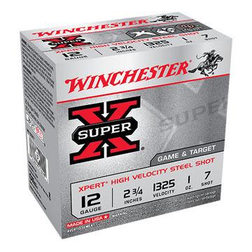 "Winchester Super-X Xpert Steel 12 GA 2-3/4"" 1 oz. #7 Shotshell Ammo (25)"