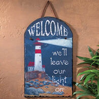 Ohio Wholesale Welcome Lighthouse Slate Sign