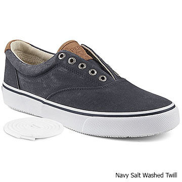 Sperry Mens Salt Washed Twill Striper CVO Sneaker