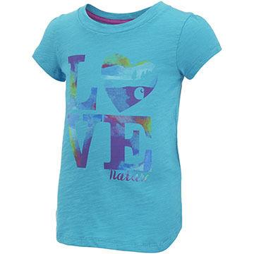 Carhartt Infant/Toddler Girls Love Nature Cotton Slub Short-Sleeve T-Shirt