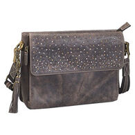 Gun Tote'n Mamas GTM/CZY-22 Distressed Buffalo Leather Concealed Carry X-Body Clutch