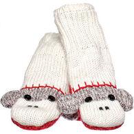 Knitwits Boys' & Girls' Grey Monkey Mitten