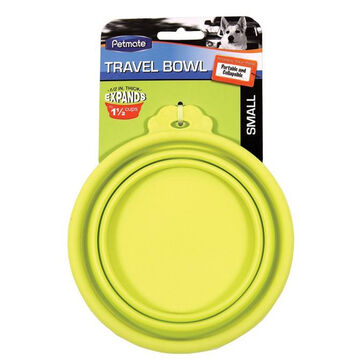 Petmate Silicone Round Travel Dog & Cat Bowl