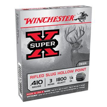 "Winchester Super-X 410 GA 3"" 1/4 oz. Rifled Slug Ammo (5)"