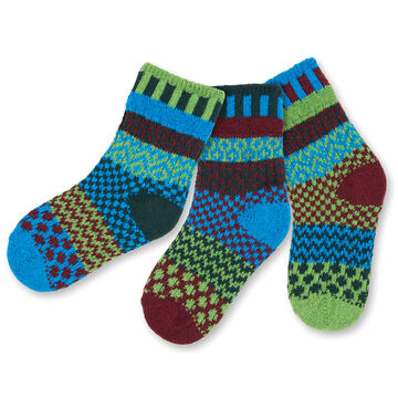 Solmate Socks Boys & Girls Junebug Sock, 3/pc