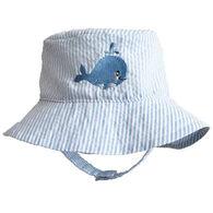 Huggalugs Infant Boy's Whale Blue Seersucker Bucket Hat