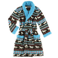 Lazy One Women's Horse Fair Isle Robe