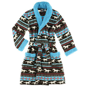 Lazy One Womens Horse Fair Isle Robe