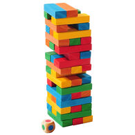 Outside Inside Backpack Tumbling Tower Game