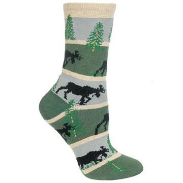 Wheel House Designs Striped Moose Sock